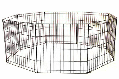24 30 36 42 48 Tall Dog Playpen Crate Fence Pet Play Pen Exercise Cage   8 Panel