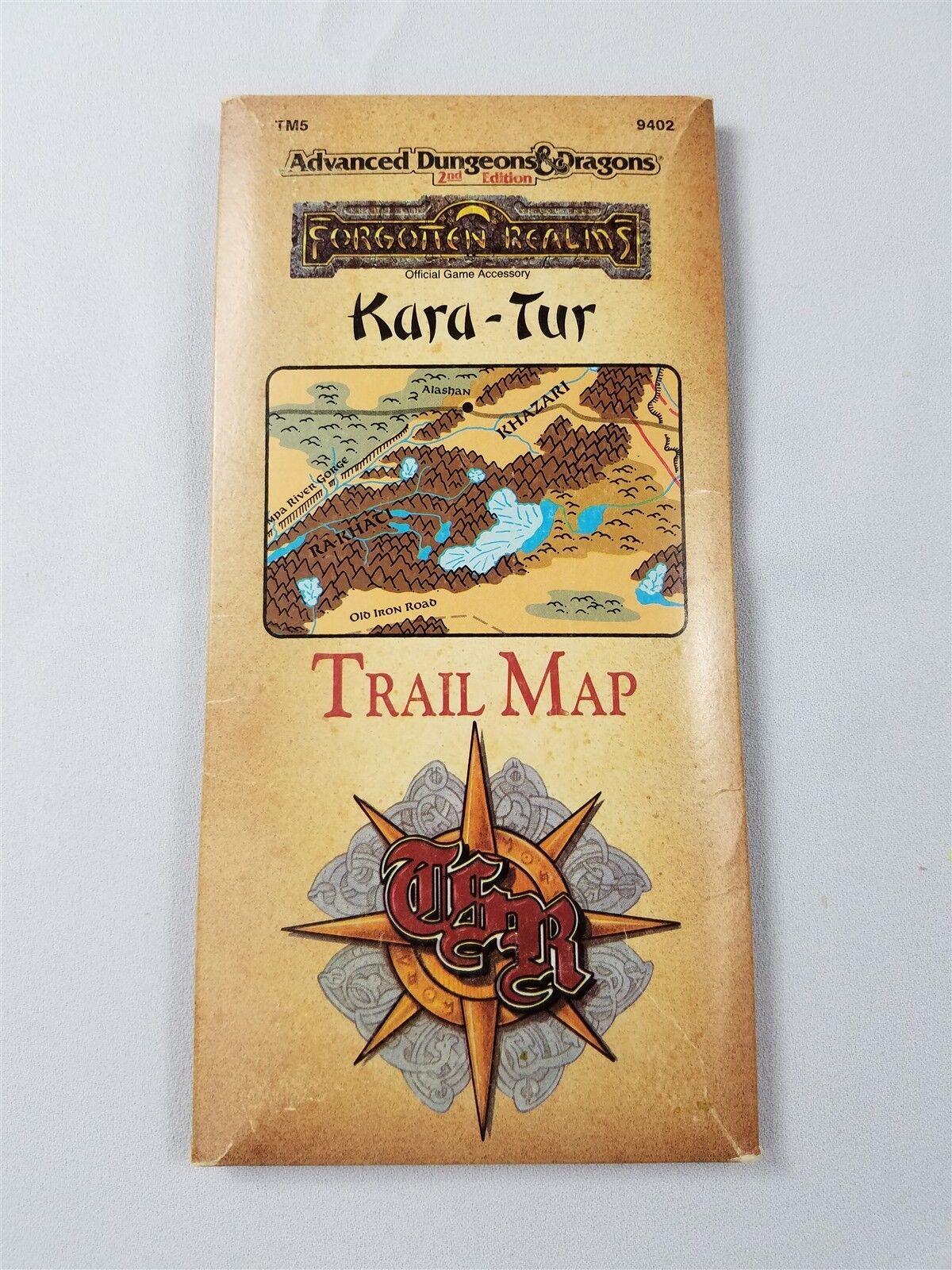 FORGOTTEN REALMS KARA-TUR TRAIL MAP EXC+    TSR 9402 D&D 6b46c4