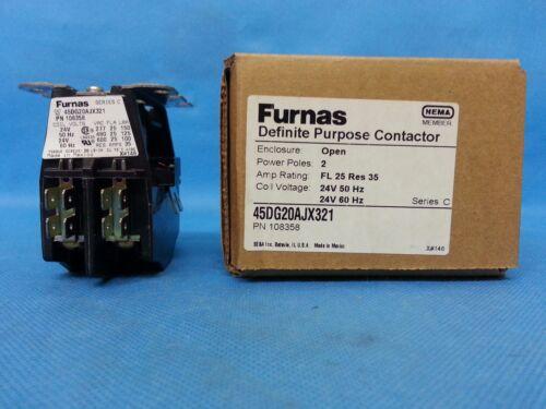 FURNAS DEFINITE 45DG20AJX321 PURPOSE CONTACTOR COIL 24 VOLT 50//60 HZ SHIPSAMEDAY