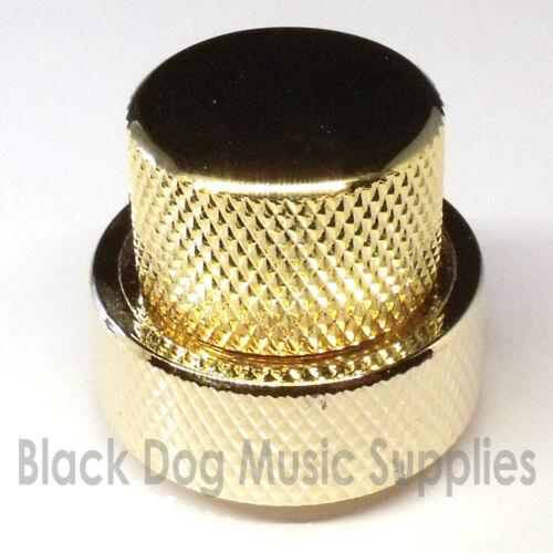 black or gold 25mm tone volume Dual guitar control knob flat top in chrome