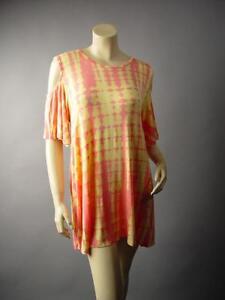 Pastel-Tie-Dye-Hippie-Boho-Cold-Open-Shoulder-Plus-Top-228-mv-Shirt-1XL-2XL-3XL