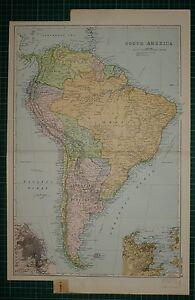 Carte Amerique Latine Uruguay.1905 Ancien Carte Amerique Du Sud Argentine Republique Uruguay