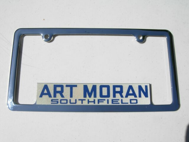 1970 S Art Moran Pontiac Gmc Southfield Mi Dealership License Plate Frame Nos Ebay
