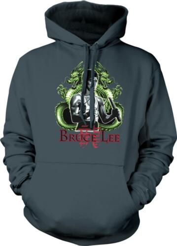 Bruce Lee Dragon Martial Artist Action Movie Star Hoodie Pullover