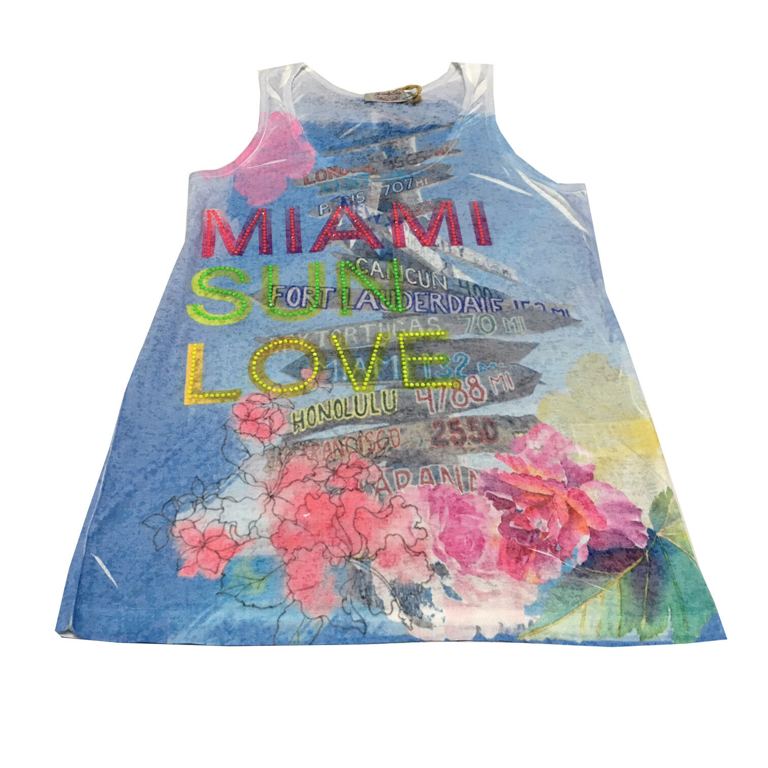 TWENTY EASY by KAOS women vest top print subliminal MIAMI MADE IN ITALY