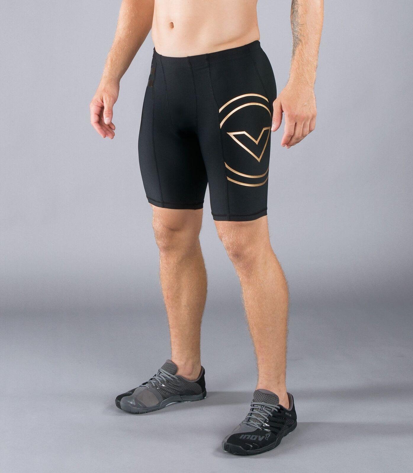 Virus Herren Au11 Bioceramic V2 Tech Shorts - - - Schwarz Gold 64dc20