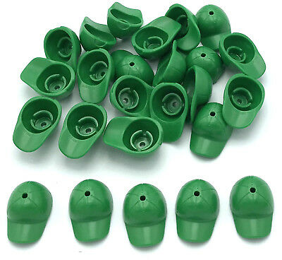 LEGO NEW MINIFIGURE GREEN CAP BASEBALL HAT CURVED BILL PIECE