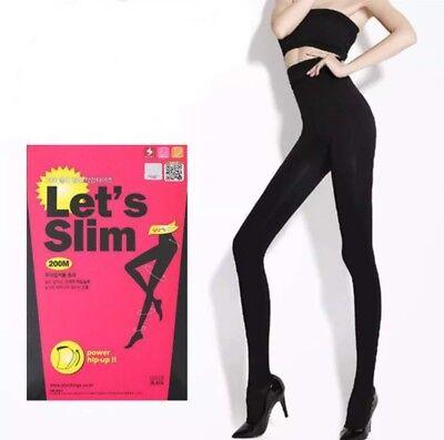 Affidabile Let's Silm Nero Legging Donna Dimagrante Shaper-nuovo Sexy Pantaloni Legging S/m 200m-mostra Il Titolo Originale Facile Da Lubrificare