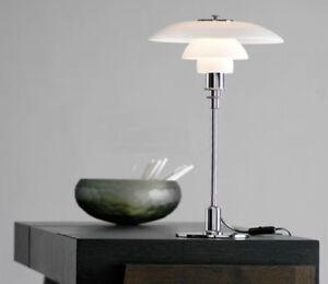 Details about Modern PH 3/2 Glass Table Lamp Desk Lighting Denmark Bedroom  Light Design LP