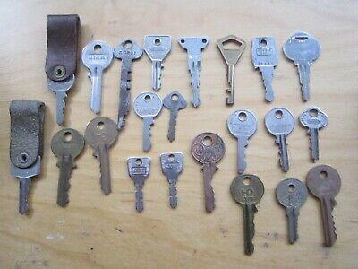 Lot 22 Vintage Flat Door Keys Union Squire Lock Clock Cabinet Box Desk Chest Ebay