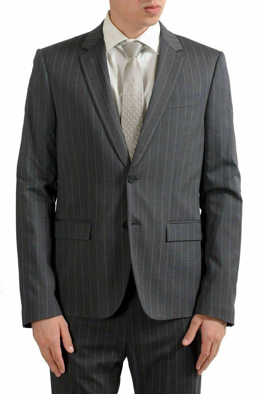 Just Cavalli Cavalli Cavalli Herren Wolle Grau Gestreift Zwei Knopfen Anzug Us 40 It 50  | Garantiere Qualität und Quantität  | Praktisch Und Wirtschaftlich  | Großer Räumungsverkauf  19930c