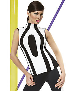 Fashion-Top-Bluse-Shirt-T-Shirt-elastisch-Stretch-Mode-Miley