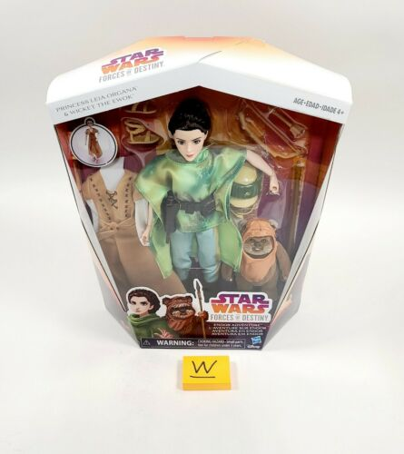 Star Wars Forces of Destiny Princess Leia /& The Wicket Ewok Doll with 2 outfits