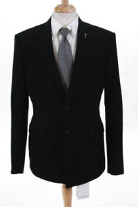 Givenchy-Mens-Two-Button-Suit-Lined-Jacket-Black-Wool-Size-52