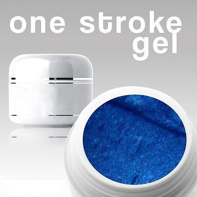 4 ml /3D/ ONE STROKE FARBGEL*pearl-night-blue**ANGEBOT FÜR KURZE ZEIT**