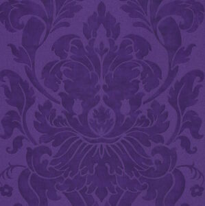 Image Is Loading Shades Of Royal Purple Luxurious Grand Damask Wallpaper
