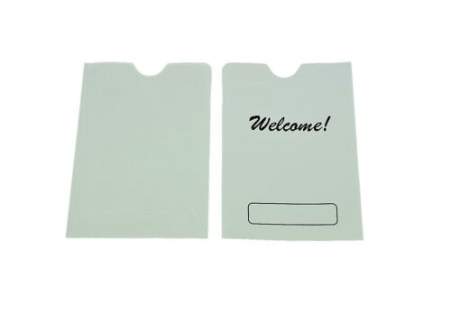 Hotel Room Key Card Holder Sleeve with WELCOME sign, 3.5x2.5 (3-1/2x2-1/2)
