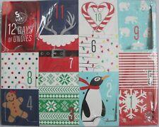 NIB NOS SO WOMEN/'S CHRISTMAS COTTON PANTIES 12 DAYS OF UNDIES