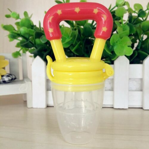 Baby Fresh Food Fruit Safe NON-TOXIC Silicone Feeding Pacifier Nipple Teeth Well