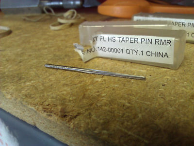#1 HIGH SPEED STEEL STRAIGHT FLUTE TAPER PIN REAMER