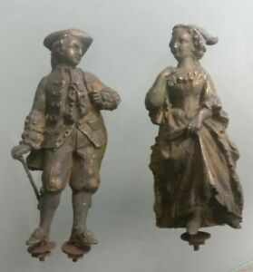 Personnages-sculpture-en-Regule-deco-de-pendule-marquis-et-marquise-ancien-XIX