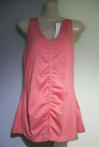 0087a971f491b NEW UK 8 ARMANI EA7 peach pink vest top built in bra designer gym ...
