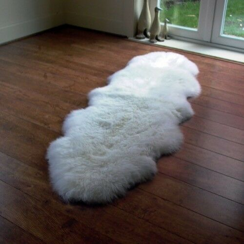 Double Natural Sheepskin Rug XXL - Large 2 Skin British Sheepskin Rug