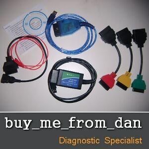 FIAT ALFA OBD2 USB DIAGNOSTIC LEAD CABLE VAG AIRBAG ENGINE ABS MULTIECUSCAN
