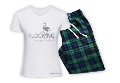 Personalised Pyjamas PJS T-Shirt Trousers Mother of the Bride Hen Party Wedding