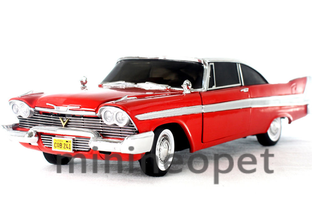 AUTOWORLD AWSS102 CHRISTINE 1958 58 PLYMOUTH FURY 1 18 DIECAST rosso
