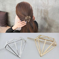 1PC Women Simple Diamond Shape Hair Clip Barrette Hairpin Bobby Pin Jewelry Gift