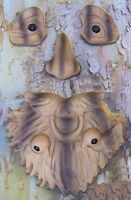 Garden Accent Tree Face Saint Francis Wall Fence Shed Wood Toned Polyresin