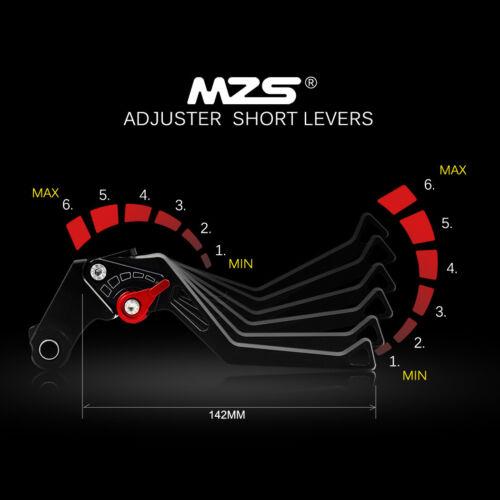MZS Clutch Brake Levers For Kawasaki Ninja600//ZX6//ZX600//ZZR600 ZX6R//ZX636 ZX6RR