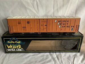 WEAVER-W-SOUND-PACIFIC-FRUIT-EXPRESS-MECHANICAL-REEFER-LN-FOR-LIONEL-UNION-PFE