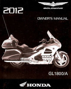 2012 Honda Goldwing Gl1800 A Motorcycle Owners Manual Gl 1800 Gold Wing Ebay