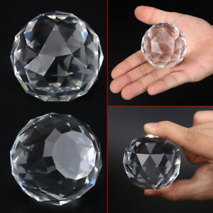 60-80mm-Cut-Crystal-Sphere-Prisms-Glass-Ball-Faceted-Gazing-Suncatcher-Crafts-IS