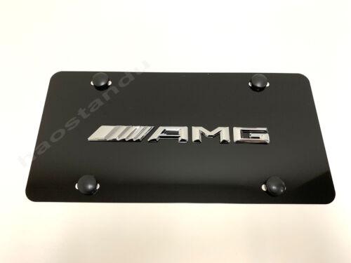 "1x 3D /""////////AMGemblem/"" Aluminum BLACK Color Front Plate RUST FREE NEW Style"