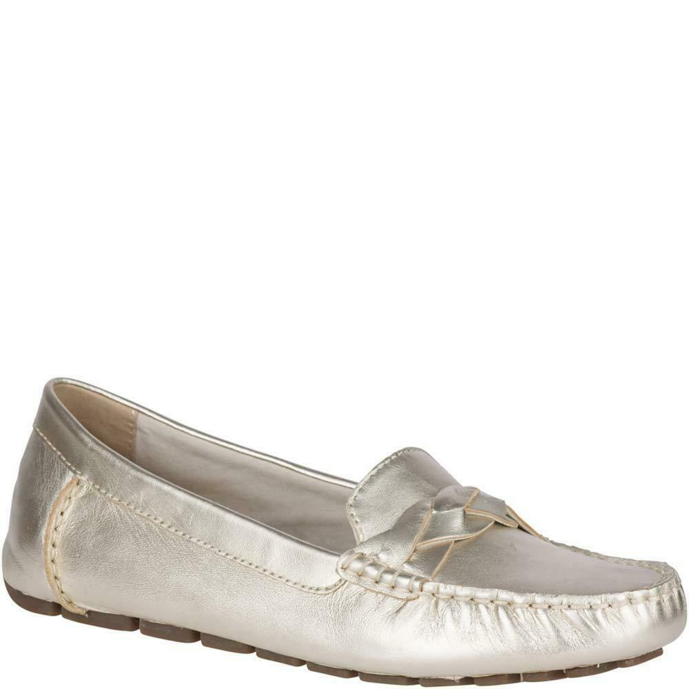 Sperry Women's Bridge Driver Leather Platinum 5 M US
