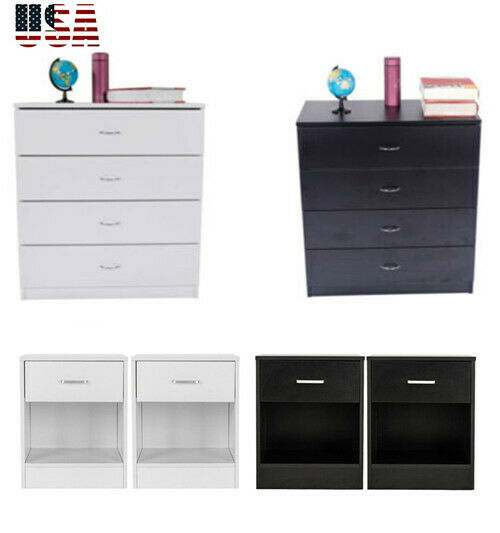 . Chests of Drawers Modern Bedroom Dresser Set Storage 4 Drawers Chest  Cabinet US