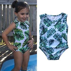 bd139b10cb Image is loading Toddler-Baby-Kids-Girl-Floral-Bikini-Swimsuit-Swimwear-