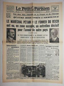 N654-La-Une-Du-Journal-Le-petit-Parisien-26-octobre-1940-marechal-Petain