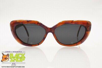 Capace Mimmina R321 Vintage Women's Sunglasses, Amber & Violet Glittered Acetate, Nos Nuove Varietà Sono Introdotte Una Dopo L'Altra