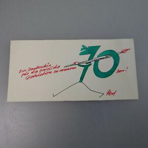 Hochglanzpoliert 54755 Unter Der Voraussetzung Autograph Alfred Beier-red Illustrierte Danksagung 1972