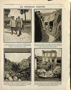 """Bataille d'Artois Maréchal Joffre Général d'Urbal Notre-Dame-de-Lorette 1915 WWI - France - Commentaires du vendeur : """"OCCASION"""" - France"""