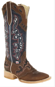 be9cb5081fd Details about 2127 - RockinLeather Womens Tall Distressed Brown Boot With  Wide Square Toe