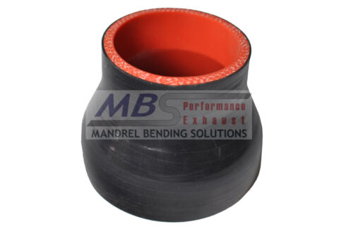 "SILICONE REDUCER COUPLER 2.75/"" /> 2/"" BLACK Race 5 PLY HOSE INTERCOOLER TURBO MBS"
