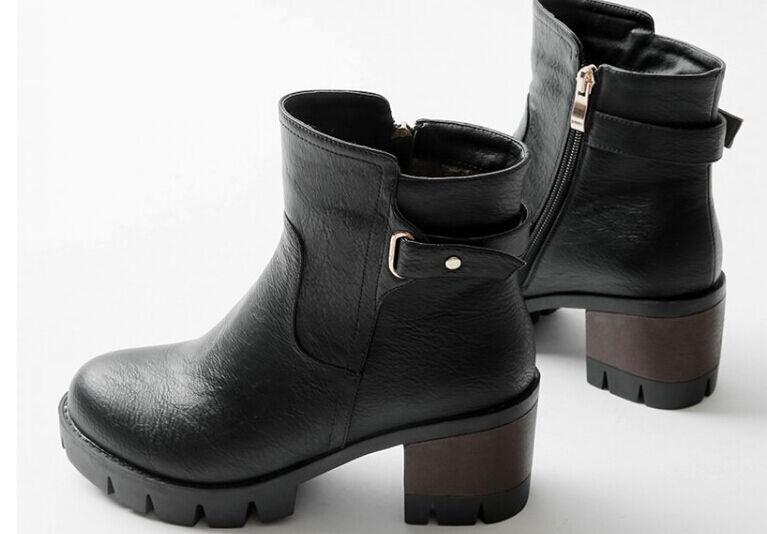 Stivaletti botas  tacco alto cm 6.5 negro  caldi comodi pelle sintetica 9012