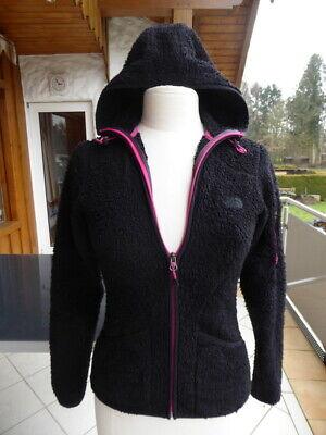 The North Face Teddy Fleece Jacke XS 34 schwarz pink mit Kapuze warm 152 158 | eBay