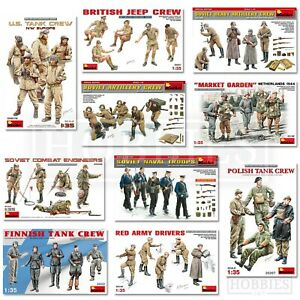 Miniart-figures-1-35-scale-WW2-US-sovietique-British-Tank-Crew-troupes-uniforme-Kits