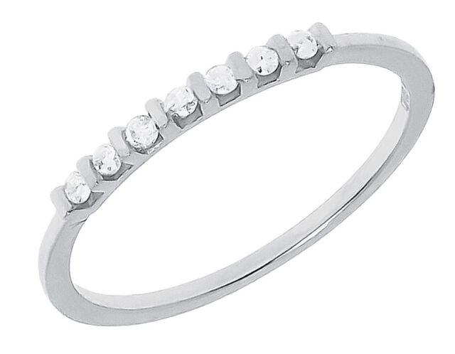14k White Gold Round Diamond Wedding Engagement Anniversary Band Ring 0.25 ct